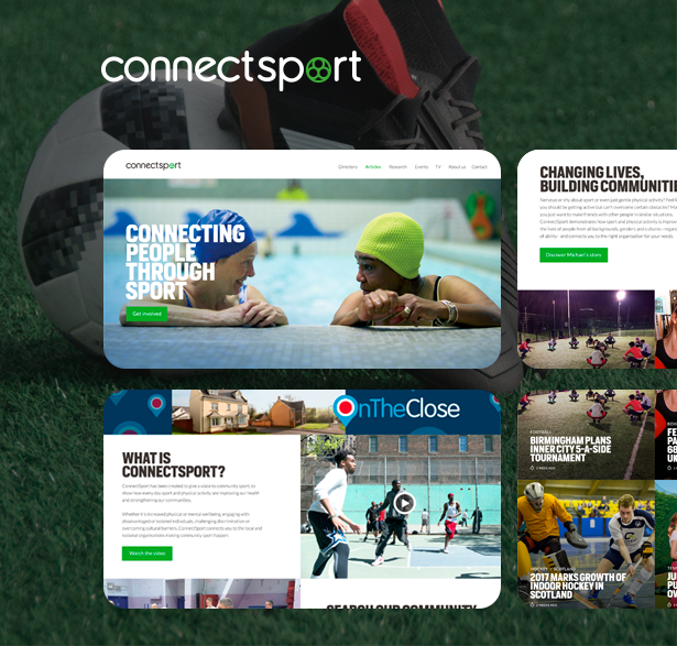 Internet portal connectsport